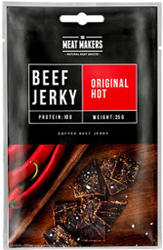 Meat Makers Beef Jerky Original Hot