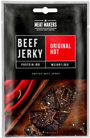 Meat Makers Beef Jerky Original Hot