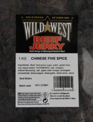 Wild West Pork Jerky Chinese 1kg